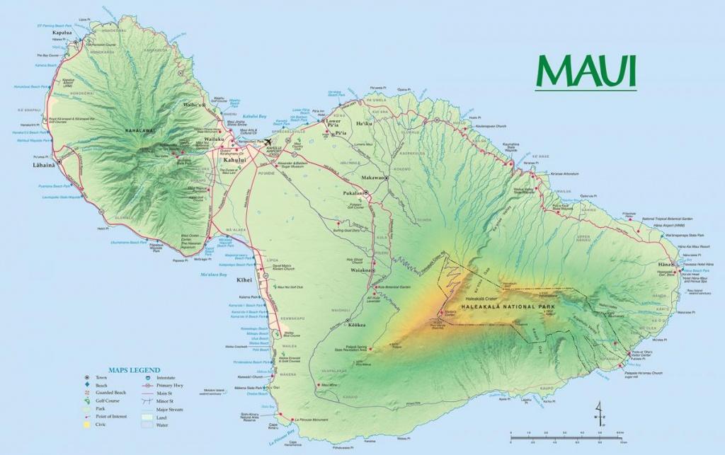 Maui Maps | Go Hawaii - Maui Road Map Printable