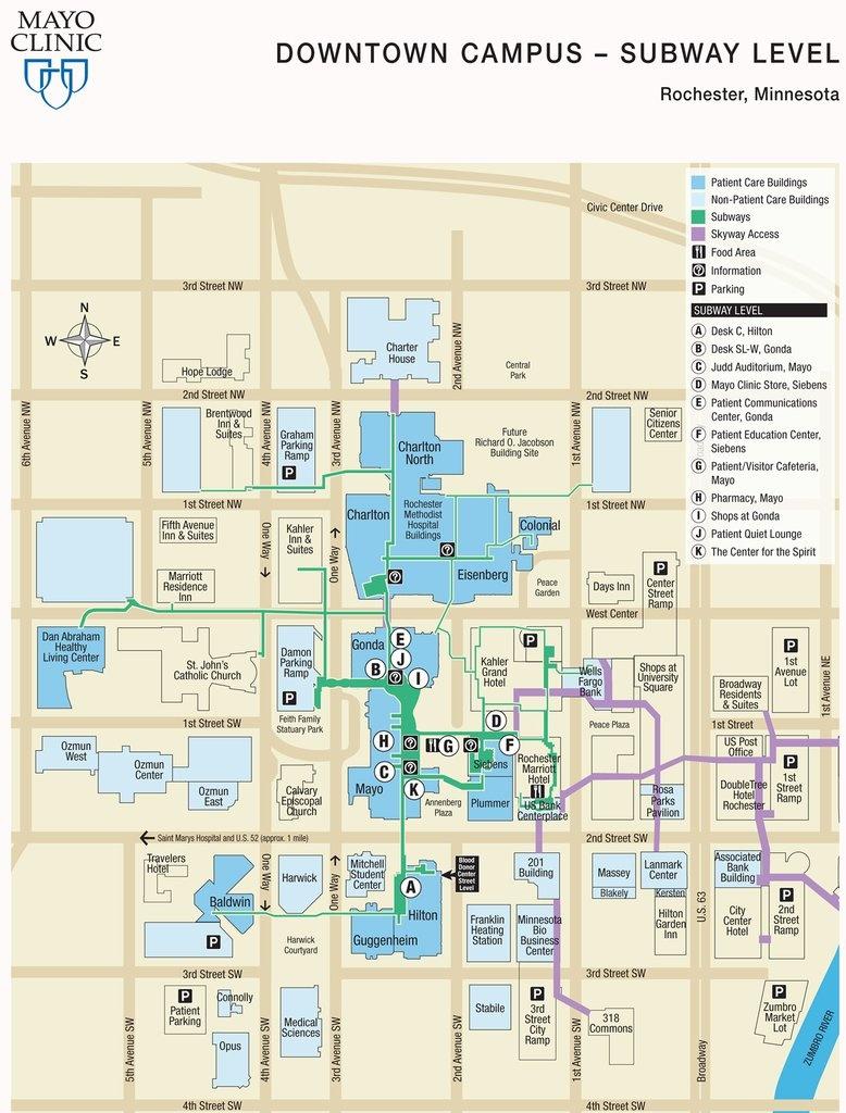 Mayo Campus Map – Bestinthesw - Mayo Clinic Jacksonville Florida Map