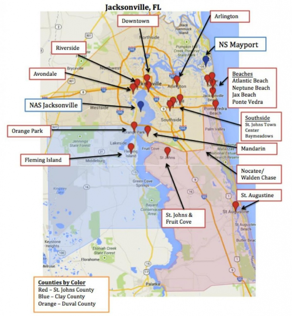Mayport Fl Map - Map Of Mayport Fl (Florida - Usa) - Fleming Island Florida Map