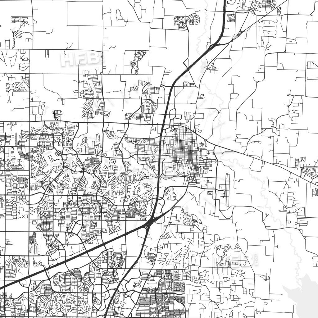 Mckinney, Texas - Area Map - Light | Hebstreits Sketches - Street Map Of Mckinney Texas