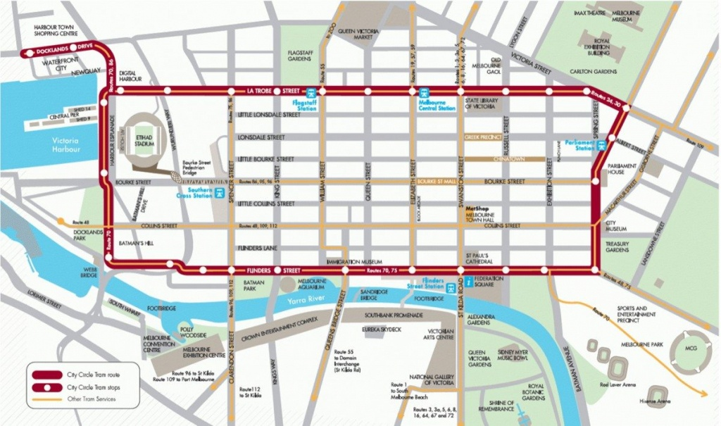 Mebourne Maps - Tourist & Train, Cbd, Suburbs & Surrounding Areas - Melbourne Cbd Map Printable
