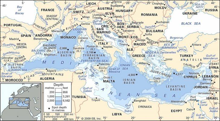 Mediterranean Map Printable