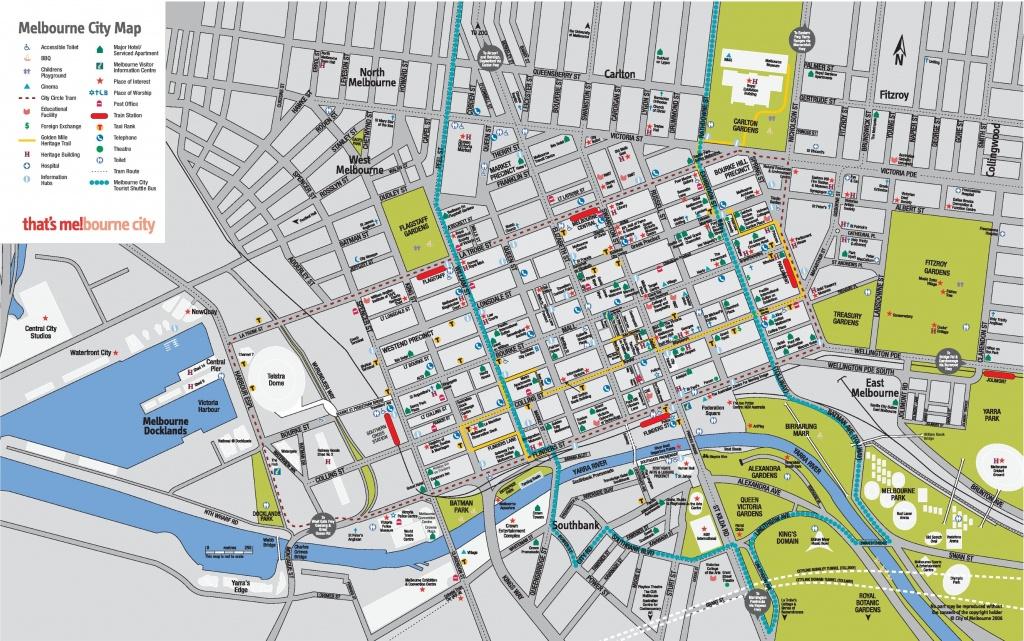 Melbourne Cbd Map - Melbourne Cbd Map Printable