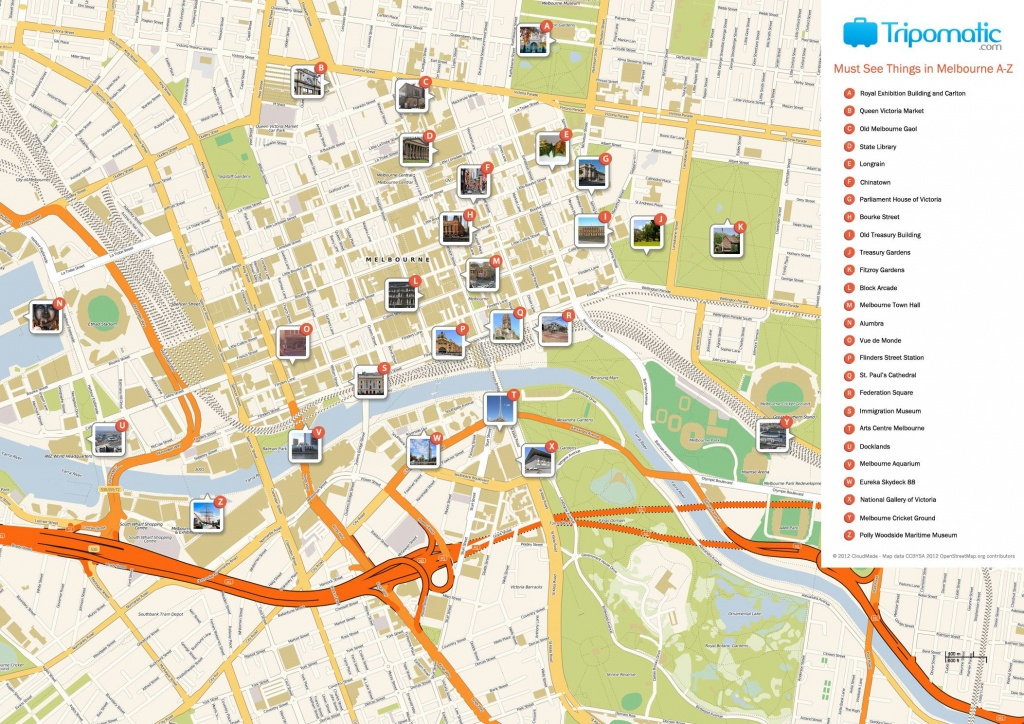 Melbourne Printable Tourist Map In 2019   Free Tourist Maps - Melbourne Cbd Map Printable