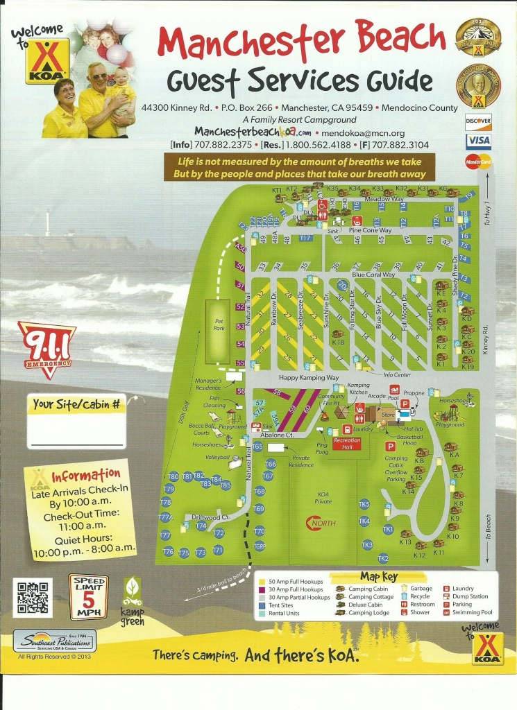 Mendocino Koa Campground Site Map   Camping Research In 2019 - California Rv Camping Map