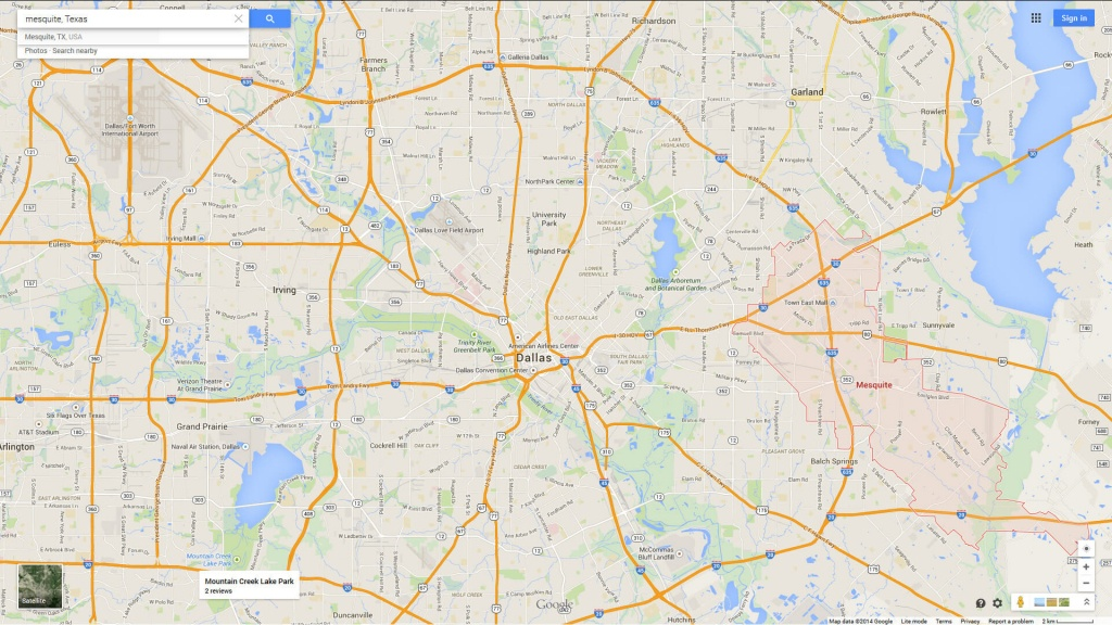 Mesquite, Texas Map - Google Maps Mesquite Texas