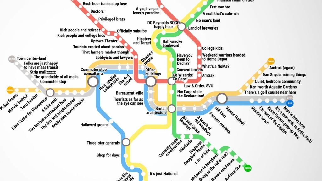 Metro Map Of Washington Dc | Woestenhoeve - Printable Metro Map Of Washington Dc