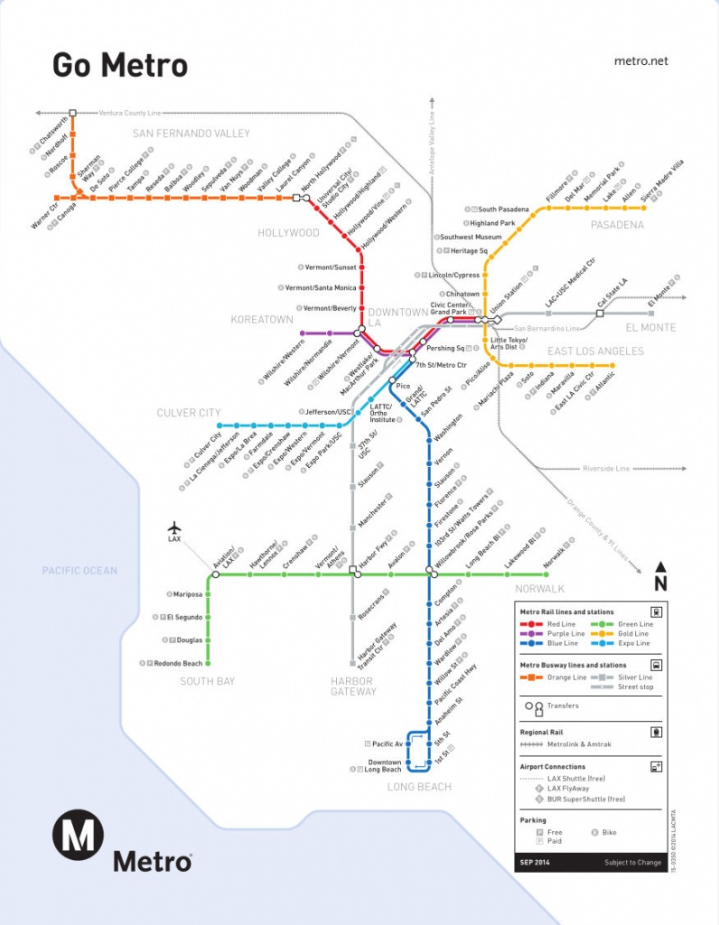 Metro Rail :plan Du Métro De Los Angeles, États-Unis - California Metro Map