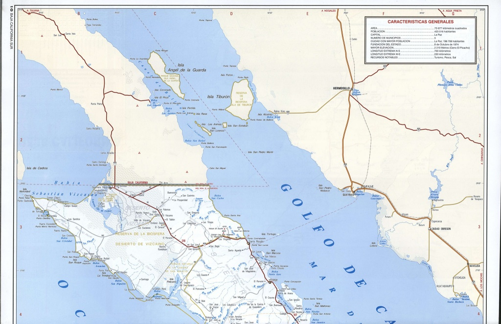 Mex Trend Baja Mexico Road Map - Diamant-Ltd - Baja California Road Map