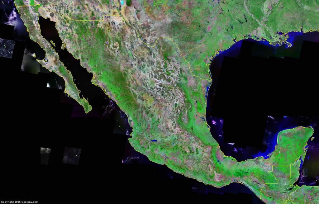 Mexico Map And Satellite Image - Google Maps Satellite Texas