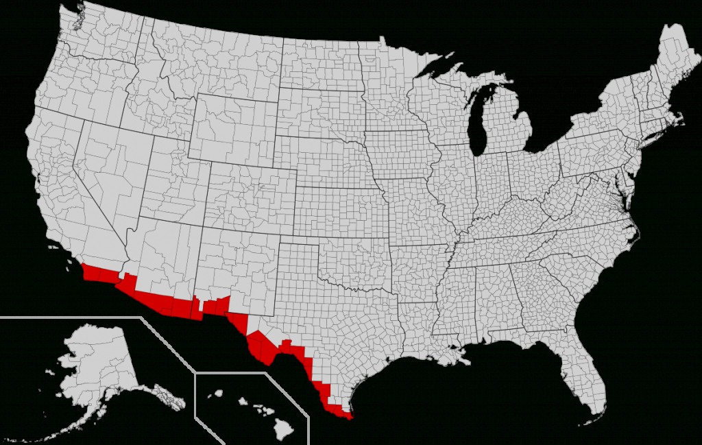 Mexico–United States Border - Wikipedia - Border Patrol Checkpoints Map Texas