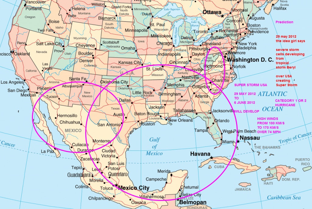Mexico Usa Map And Travel Information   Download Free Mexico Usa Map - Mexico Florida Map