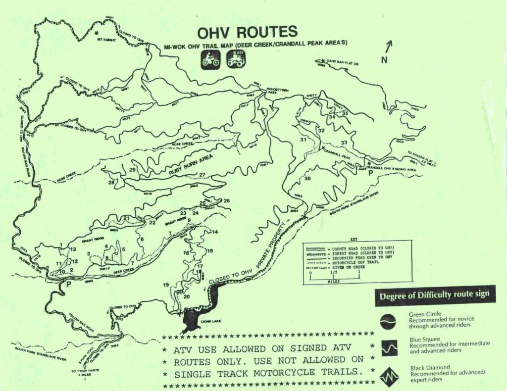 Mi-Wok Ohv Trail Map - Merced Ca • Mappery - California Ohv Map