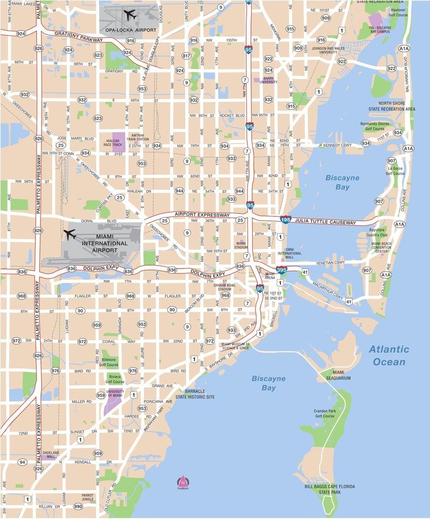 Miami Area Map - Maplets - Miami City Map Printable