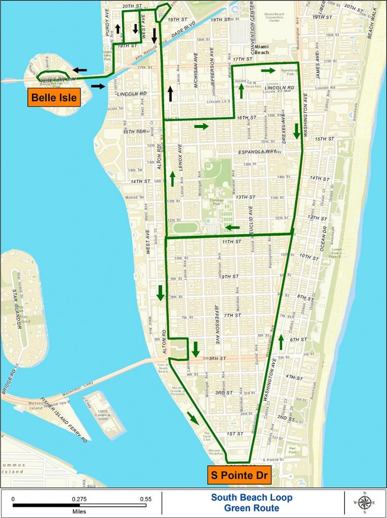 Miami Beach Free Trolley Service | South Beach Magazine - Map Of South Beach Miami Florida