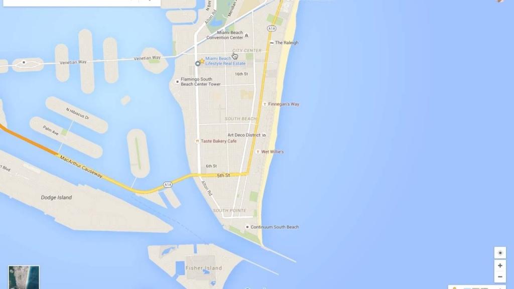 Miami Beach Neighborhood Tour & Google Maps Walkthru - Youtube - Google Maps Miami Florida