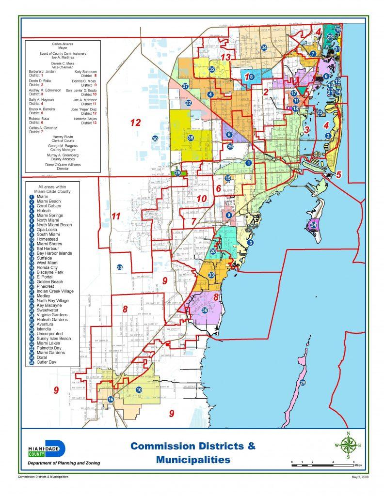 miami-dade municipalities map | miami real estate maps and