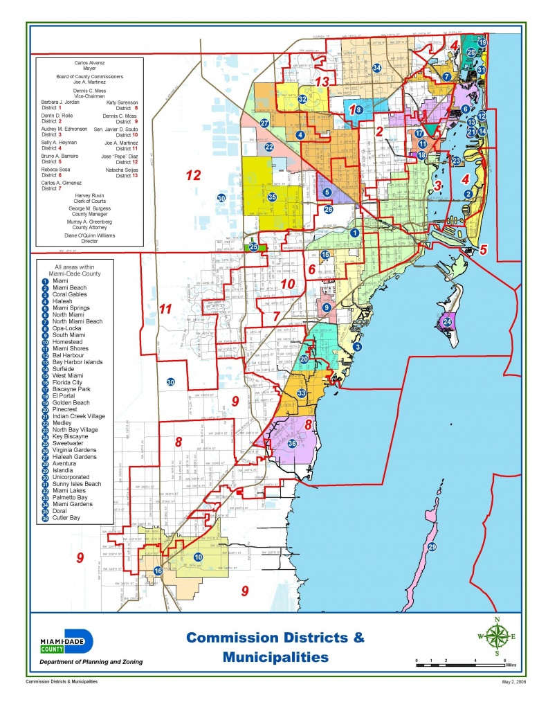 Miami-Dade Municipalities Map | Miami Real Estate Maps And Graphics - Mls Listings Florida Map