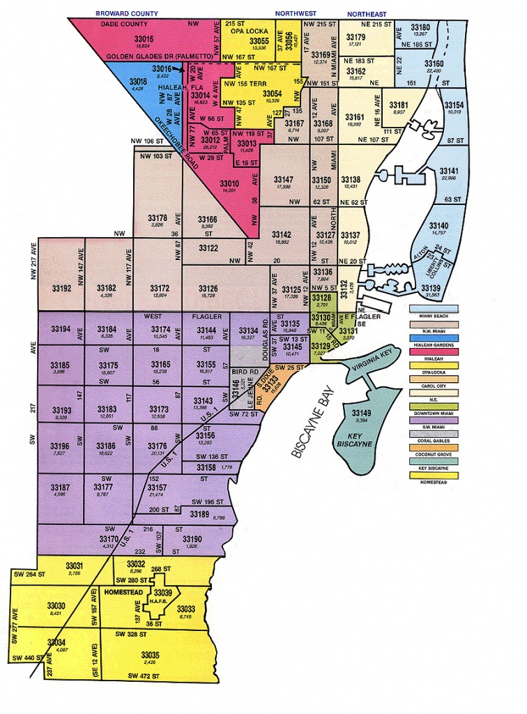 Miami-Dade Zip Code Map - Florida Zip Code Map