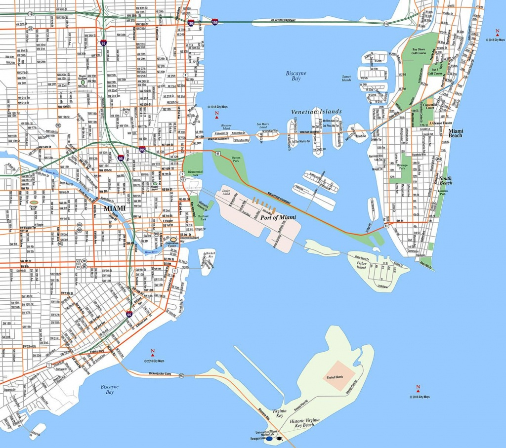 Miami, Downtown - Aaccessmaps - Miami Florida Cruise Port Map