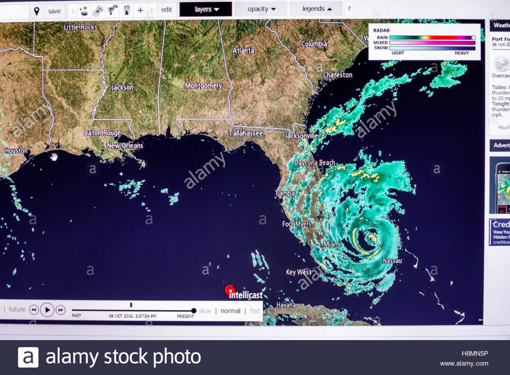 Miami Florida Beach Computer Monitor Intellicast Weather Radar - Miami Florida Radar Map