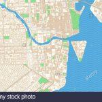 Miami Florida Printable Map Excerpt. This Vector Streetmap Of   Street Map Of Downtown Miami Florida