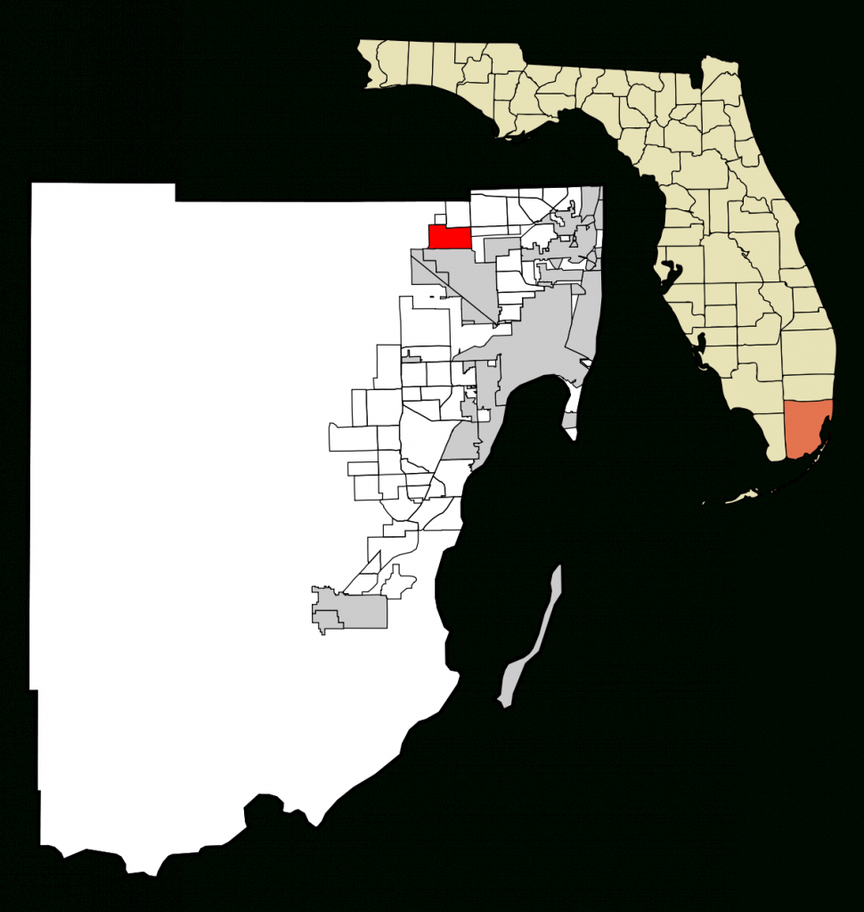 Miami Lakes, Florida - Wikipedia - Lauderdale Lakes Florida Map