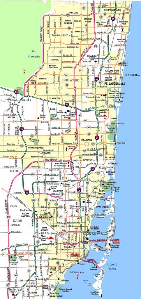 miami metropolitan area highways - aaccessmaps - highway