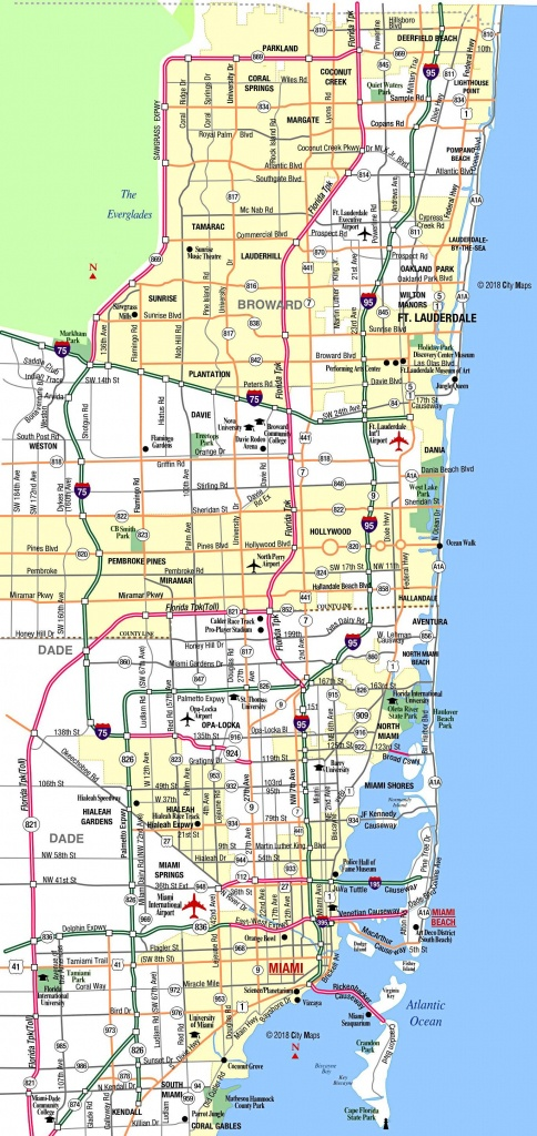 Miami Metropolitan Area Highways - Aaccessmaps - Highway Map Of South Florida