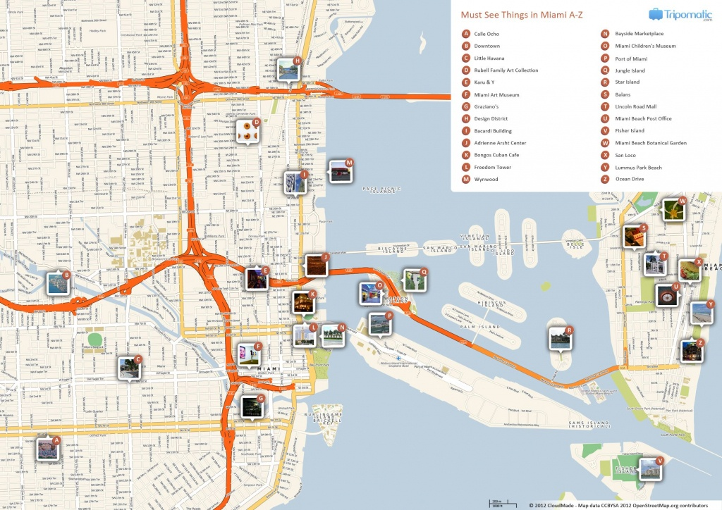 Miami Printable Tourist Map | Free Tourist Maps ✈ | Miami - Florida Attractions Map