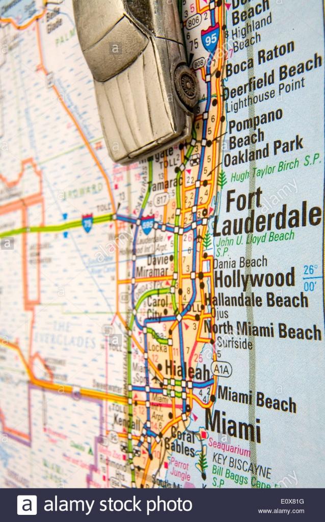 Miami Street Map Stock Photos & Miami Street Map Stock Images - Alamy - Street Map Of Miami Florida