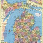 Michigan Map Instant Download 1958 Printable Map Vintage   Etsy - Printable Map Of Michigan