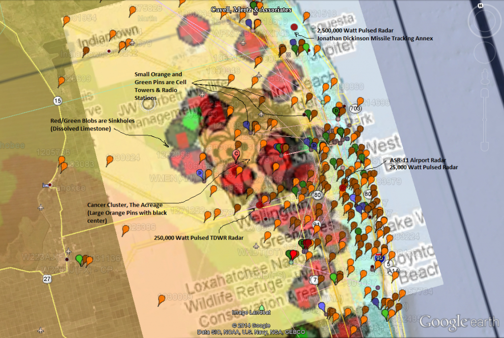 Microwave Radiation: The Solution To Our Dissolution? | Dark Matters - Map Of Cancer Clusters In Florida