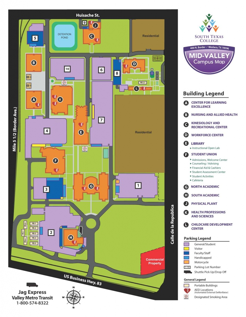 Mid-Valley Campus - Weslaco | South Texas College - South Texas College Mid Valley Campus Map
