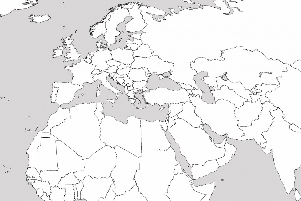 Middle East Blank Political Map Hoosiersunite Throughout Also Road - Printable Blank Map Of Middle East