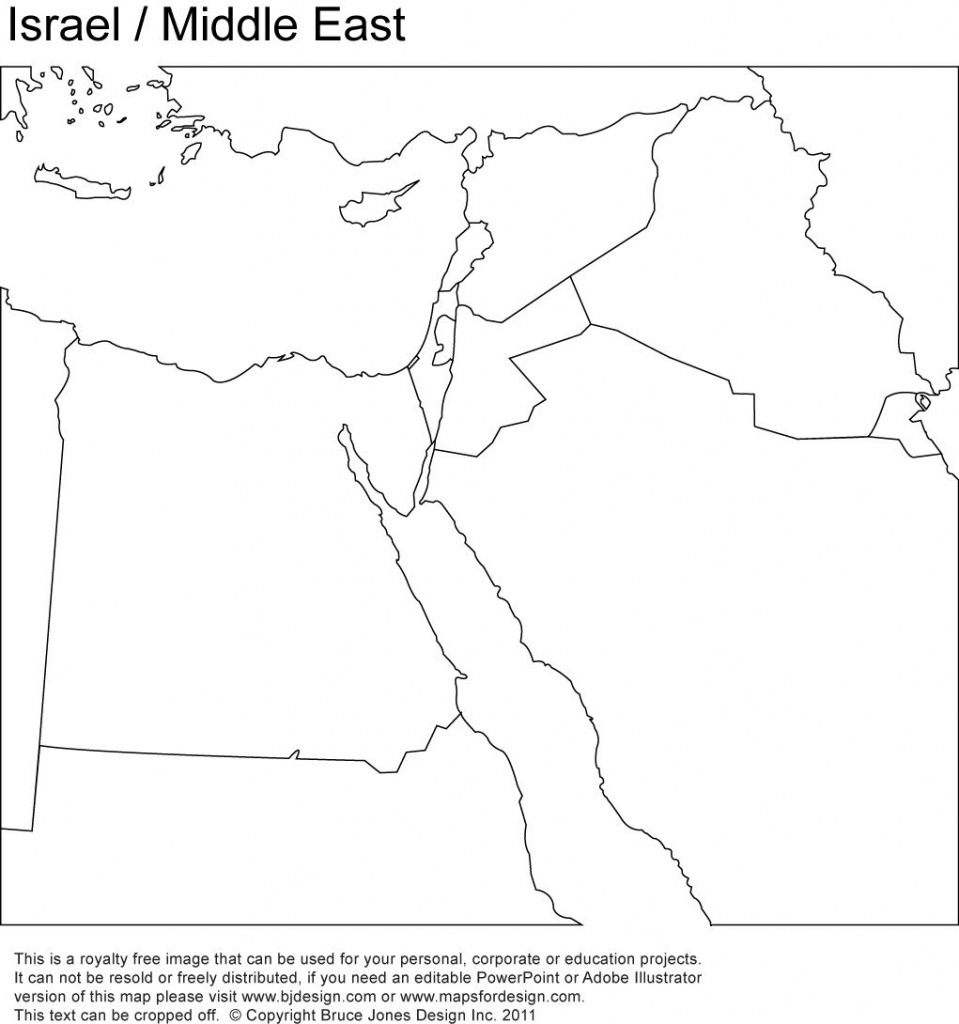 Middle East, Israel Printable Maps No Text   Girl Scout - World - Blank Map Israel Printable