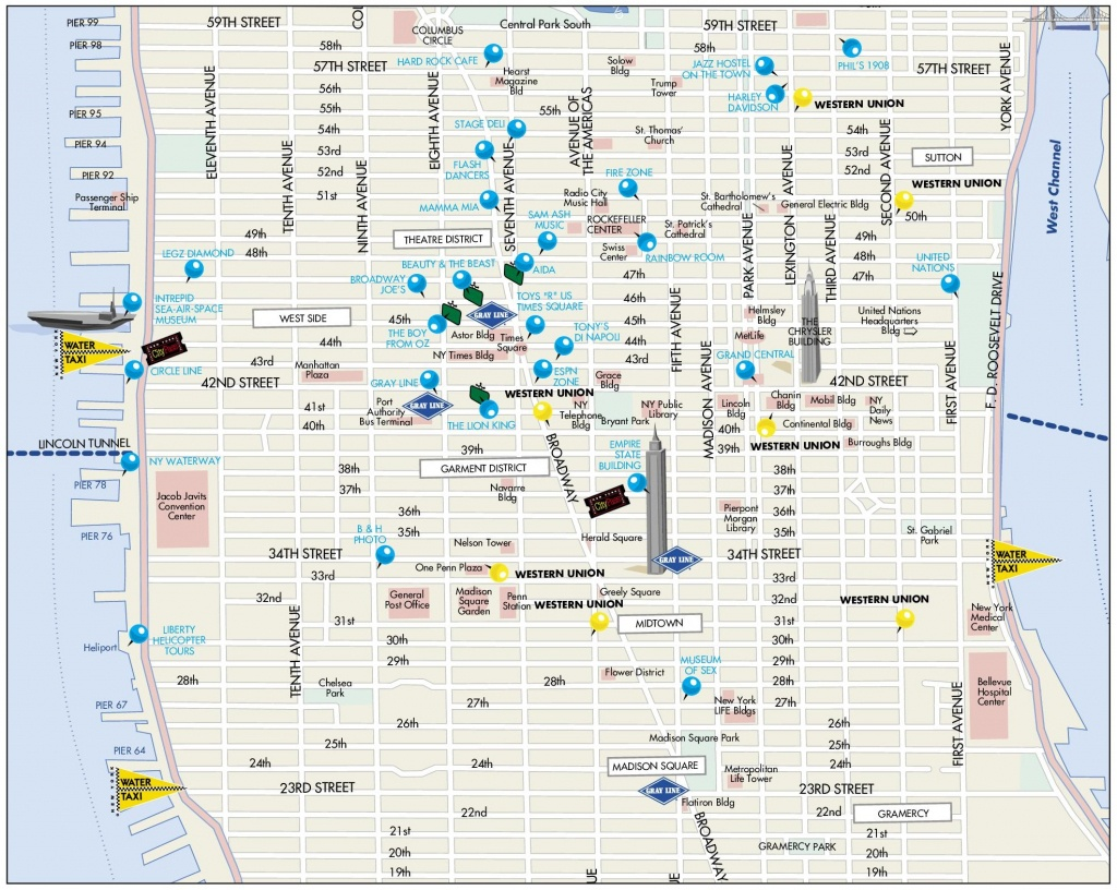 Midtown Manhattan Map - Printable Street Map Of Midtown Manhattan
