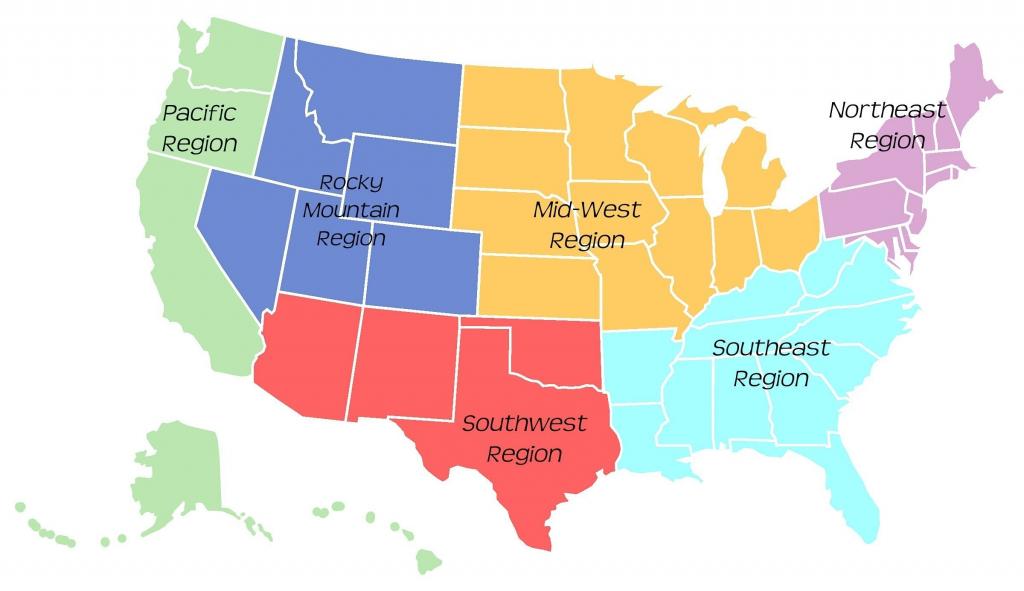 Midwest United States Map - Maplewebandpc - Southwest Region Map Printable