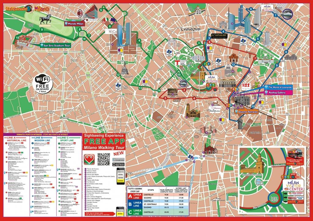 Milan Attractions Map Pdf - Free Printable Tourist Map Milan, Waking - Printable Map Of Milan