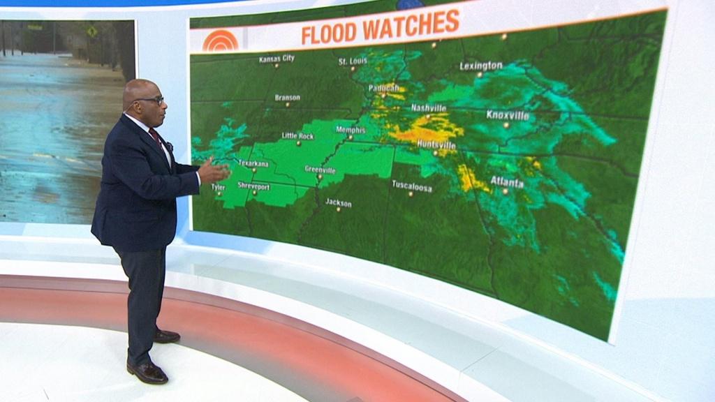Millions Are Under Flash Flood Warnings Across Midwest - Nbc News - Venice Florida Flood Map