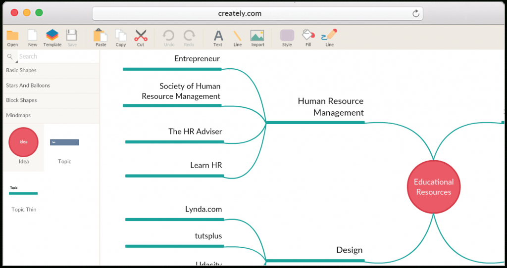 Mind Map Maker To Create Mind Maps Online - Printable Mind Maps For Students