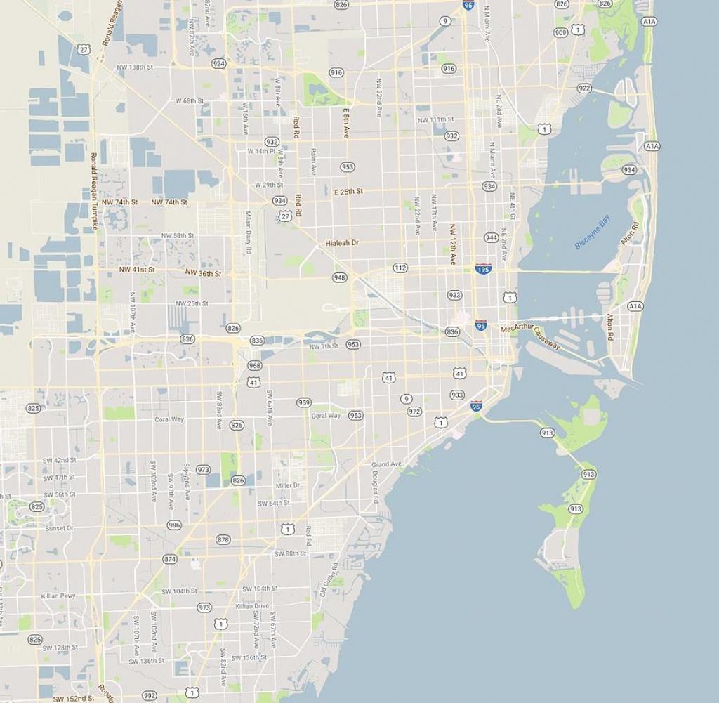 Minimalist Modern Map Of Miami, Florida, Usa 4 Paintingcelestial - Florida Marine Maps