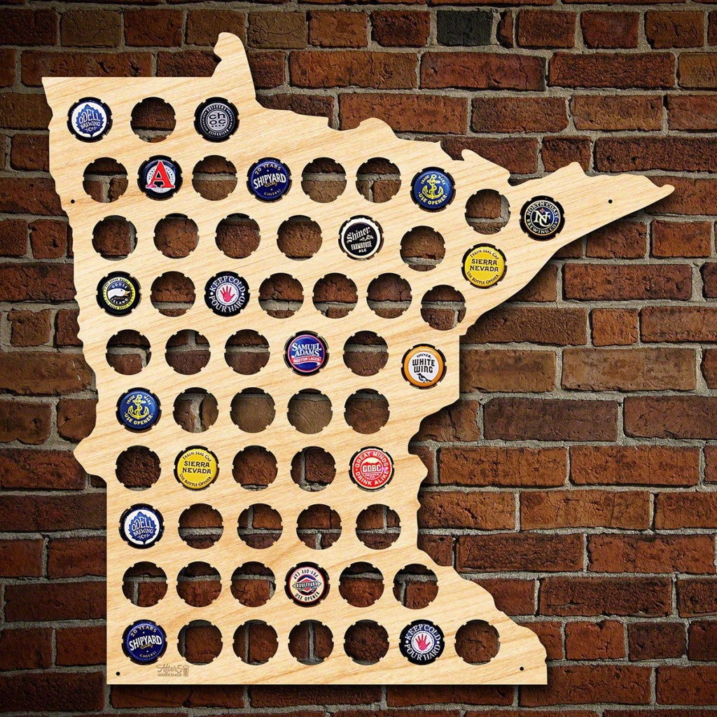 Minnesota Beer Cap Map - Florida Beer Cap Map