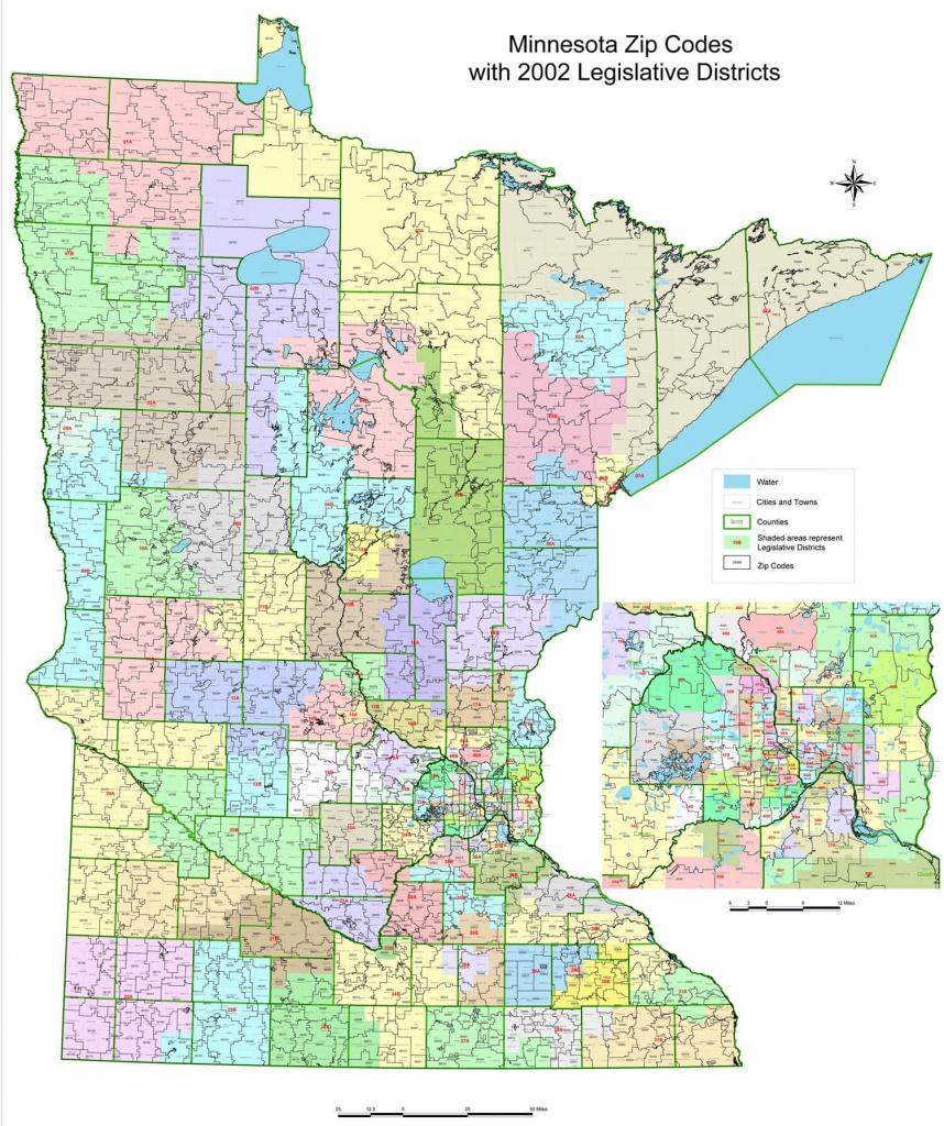 Minnesota Zip Code Map Printable - Printable Map Of Minnesota
