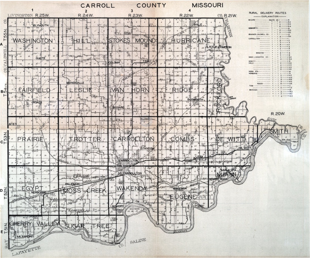 Missouri County Map - Texas County Missouri Plat Map