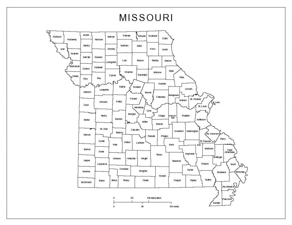 Missouri Labeled Map - Printable Map Of Missouri