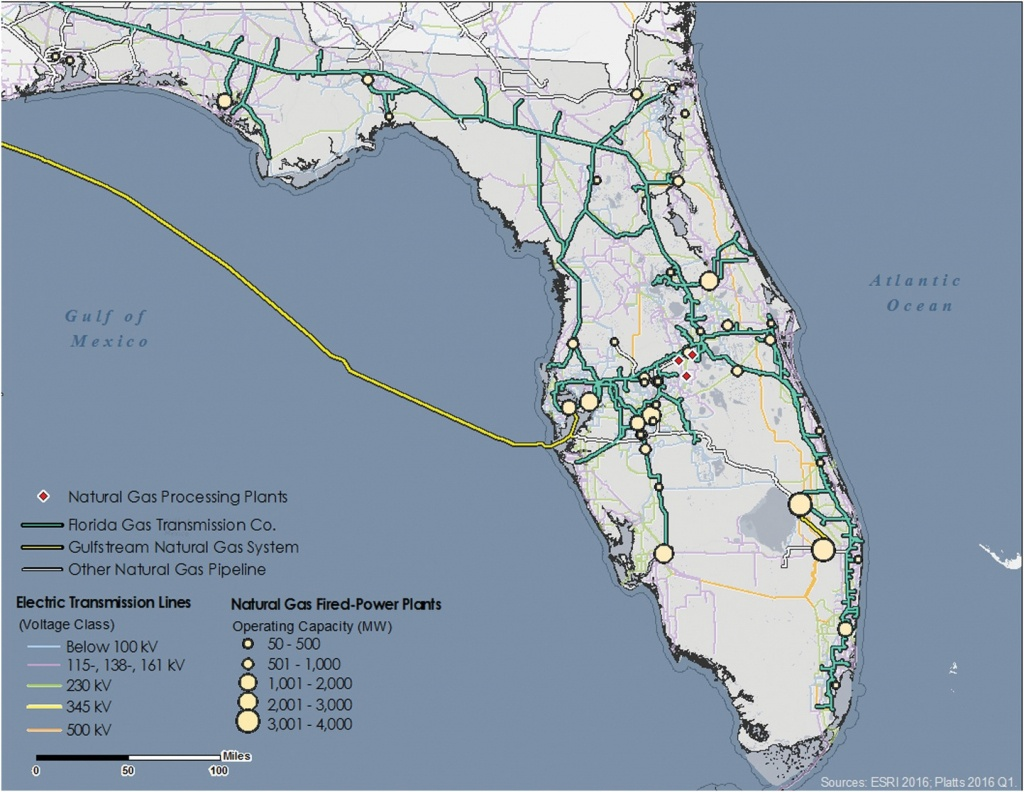 Modeling Electric Power And Natural Gas System Interdependencies - Natural Gas Availability Map Florida