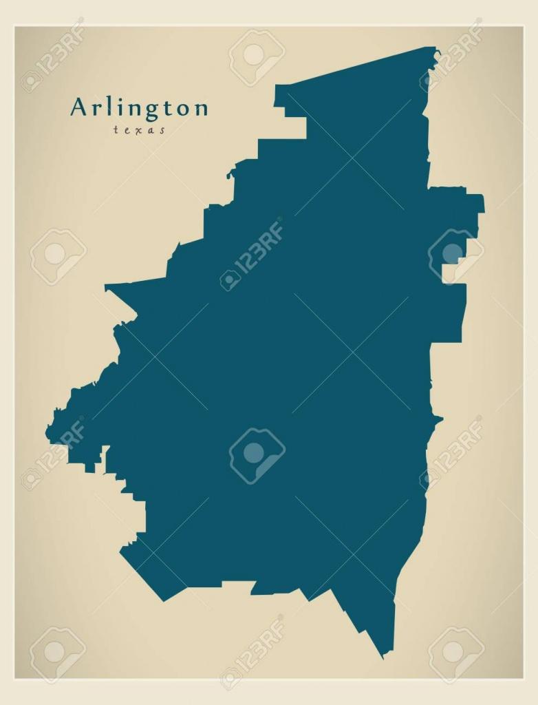 Modern City Map - Arlington Texas City Of The Usa Royalty Free - Arlington Texas Map