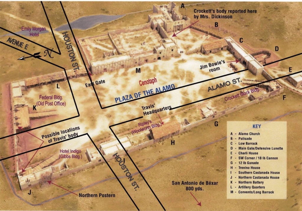Modern Street Overlay Of The Alamo Plaza. | The Alamo In 2019 - Map Of The Alamo San Antonio Texas