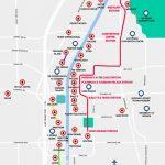 Monorail, Tram & Strip Map | Las Vegas Maps | Vegasjourney   Printable Map Of Las Vegas Strip 2018